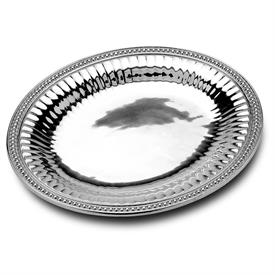 ",-FLUTES & PEARLS LARGE OVAL TRAY15/5"" L x 18""W. MSRP $150.00"