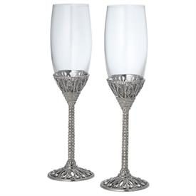 "_,REVEL SET OF 2 CHAMPAGNE FLUTES. 9.75"" TALL"