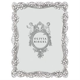 """-,5X7"""" AUDREY FRAME IN SILVER FINISHED CAST PEWTER HAND-SET WITH AUSTRIAN CRYSTALS"""