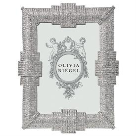 "-,4X6"" AVA FRAME IN SILVER FINISHED CAST PEWTER WITH PAVE AUSTRIAN CRYSTALS"