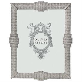 """-,8X10"""" AVA FRAME IN SILVER FINISHED CAST PEWTER WITH HUNDREDS OF PAVE AUSTRIAN CRYSTALS"""