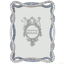"-,5X7"" CYDNEY FRAME IN CLEAR & BLUE CRYSTALS"