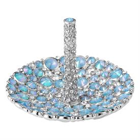 -,MCKENZIE RING HOLDER IN OPALINE CRYSTALS