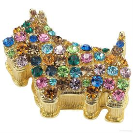-,SCOTTIE DOG BOX WITH MULTICOLORED CRYSTALS