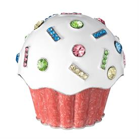 _,CUPCAKE BOX IN ENAMEL WITH MULTICOLORED CRYSTALS