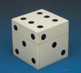 "_WHITE BONE DICE BOX 2.5"" X 2.5"" X 2.5"""