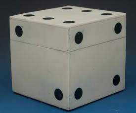 "_LG WHITE BONE DICE BOX 3.5"" X 3.5"" X 3.5"""
