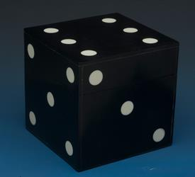 "_LG BLACK BONE DICE BOX 3.5"" X 3.5"" X 3.5"""