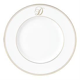 "-,'D' IN SCRIPT, 9.4"" ACCENT PLATE"
