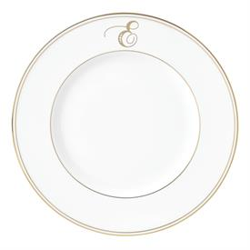 "-,'E' IN SCRIPT, 9.4"" ACCENT PLATE"