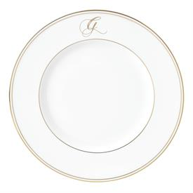 "-,'G' IN SCRIPT, 9.4"" ACCENT PLATE"