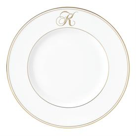 "-,'K' IN SCRIPT, 9.4"" ACCENT PLATE"