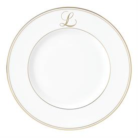 "-,'L' IN SCRIPT, 9.4"" ACCENT PLATE"