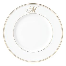 "-,'M' IN SCRIPT, 9.4"" ACCENT PLATE"