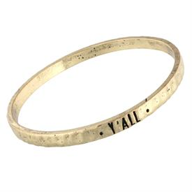 -Y'ALL GOLD MANTRA BANGLE