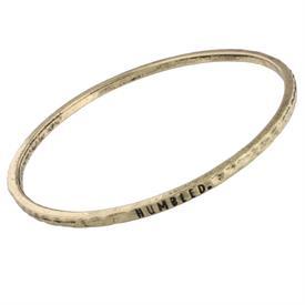 -HUMBLED GOLD MANTRA BANGLE