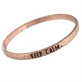 -KEEP CALM COPPER MANTRA BANGLE