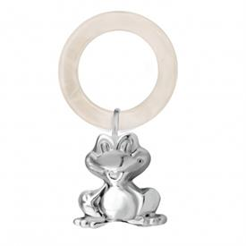 ,-GI0101D FROG WHITE TEETHING RING RATTLE