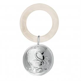 -GI0081T SWAN WHITE TEETHING RING RATTLE