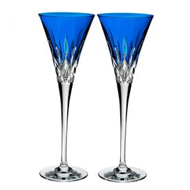 -,SET OF 2 COBALT TOASTING FLUTES