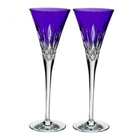 -,SET OF 2 PURPLE TOASTING FLUTES