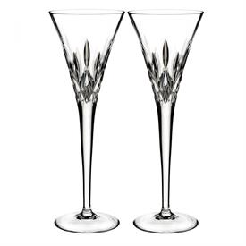 -SET OF 2 CLEAR TOASTING FLUTES