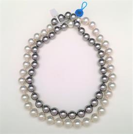 ",_70084 40"" WHITE & GREY NECKLACE"