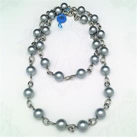 ",_70037GS 40"" CHAIN & GREY PEARL NECKLACE"