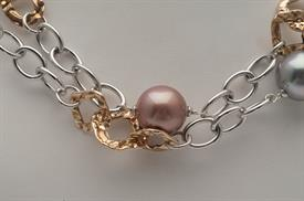_,70135 MIXED METAL CHAIN WITH MULTICOLORED PEARLS