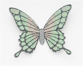 -SMALL GREEN & PEACH BUTTERFLY