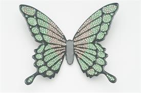 -LARGE GREEN & PEACH BUTTERFLY