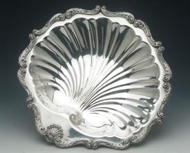 "ENGLISH SHELL BOWL LARGE 16"" ACROSS AND 2"" TALL SILVER PLATED"