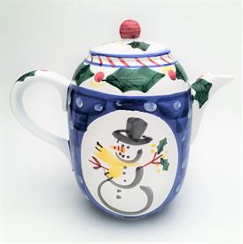 ",PRESENT TENSE 'SNOWMAN' CHOCOLATE/COFFEE POT. MADE IN ITALY. 9 CUP CAPACITY. 7.6"" TALL. CA. 1999-2003"