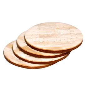 ,_SET OF 4 ROUND COASTERS. MADE OF NATURAL IVORY BONE W/ PIERCED EMBELLISHMENTS, AND INSPIRED BY THE ELEGANCE OF ITS NAMESAKE CHATEAU.
