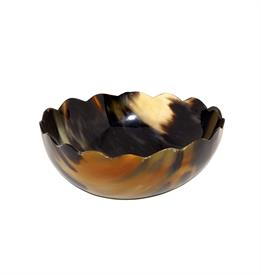 "_MEDIUM BOWL, HANDCRAFTED WITH NATURAL HORN. 6.5"" X 2.5"""