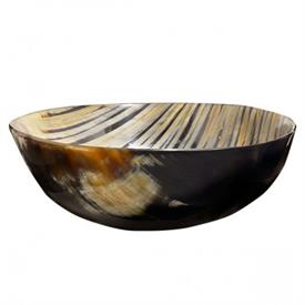 _LARGE BOWL, HAND CRAFTED AND BURNED TO CREATE CONTRASTING STRIPES.