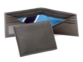 ,-WALLET MADE OF MLB AUTHENTICATED GAME USED TAMPA BAY RAYS UNIFORM AS BILLFOLD DIVIDER W/ AUTHENTICATION NUMBER.