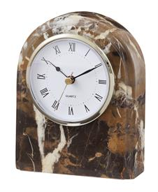 -BLACK & GOLD 'POLARIS' MARBLE CLOCK