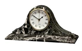 -BLACK ZEBRA 'SATURN' MARBLE CLOCK