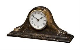 -BLACK & GOLD 'SATURN' MARBLE CLOCK