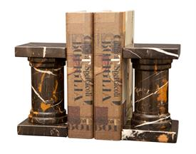 _BLACK & GOLD 'PLATINUS' MARBLE BOOKENDS