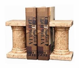 _FOSSIL STONE 'PLATINUS' MARBLE BOOKENDS