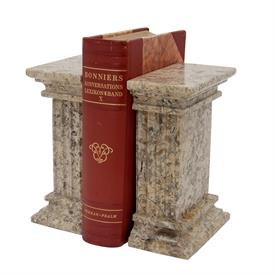 _FOSSIL STONE 'RENAISSANCE' MARBLE BOOKENDS
