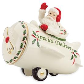 _+SANTA COOKIE JAR, SPECIAL DELIVERY. MSRP $80.00