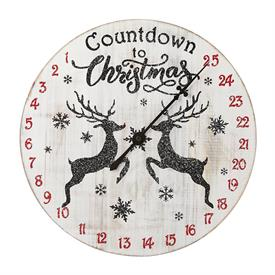 """_14"""" ADVENT 'CLOCK'. FARMHOUSE FEEL. #890419. MADE FROM MANGO WOOD. MSRP $80"""