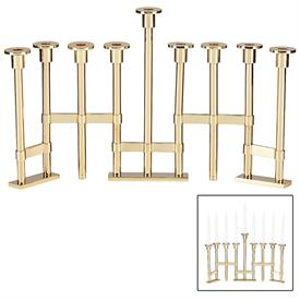 "-OAK STREET MENORAH. 11.75"" LONG"