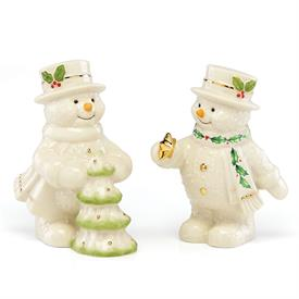 -DECORATE THE TREE SNOWMAN SALT & PEPPER SHAKERS. MSRP $40.00