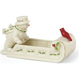 "_SNOWMAN & SLED CANDY DISH. 4.5"" MSRP $60.00"