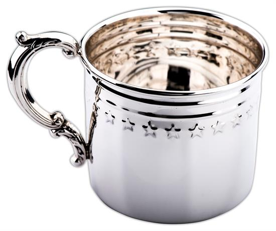 """Greg Arbutine Presidential Baby Cup Sterling Silver manufactured by Empire Silver and Designed by Artist & Designer Greg Arbutine 2.5""""h x3.5""""-ON SALE!"""