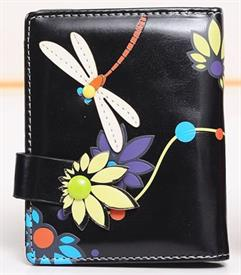 -BLACK DRAGONFLY WALLET